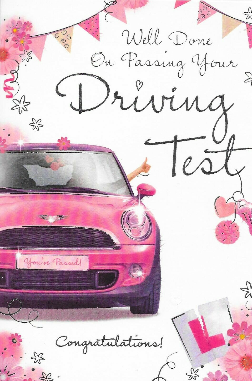 New you/'ve passed your driving test congratulations card