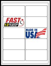 1000 Laser Ink Jet Labels Blank Address 100 Sheets 4x 2 Fits Word Templates