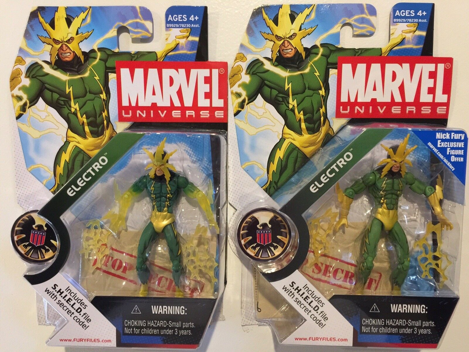 Marvel Universe Electro Series 1 Wave 4  025 Translucent Hands & Matte VARIANTS