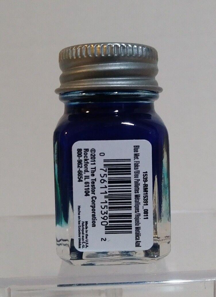 Testors 1539TT Azul Pintura Esmalte Floco De Metal 1//4 Oz.