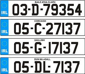 NCT TEST CAR NUMBER PLATE IRELAND ALL COUNTIES LEGAL