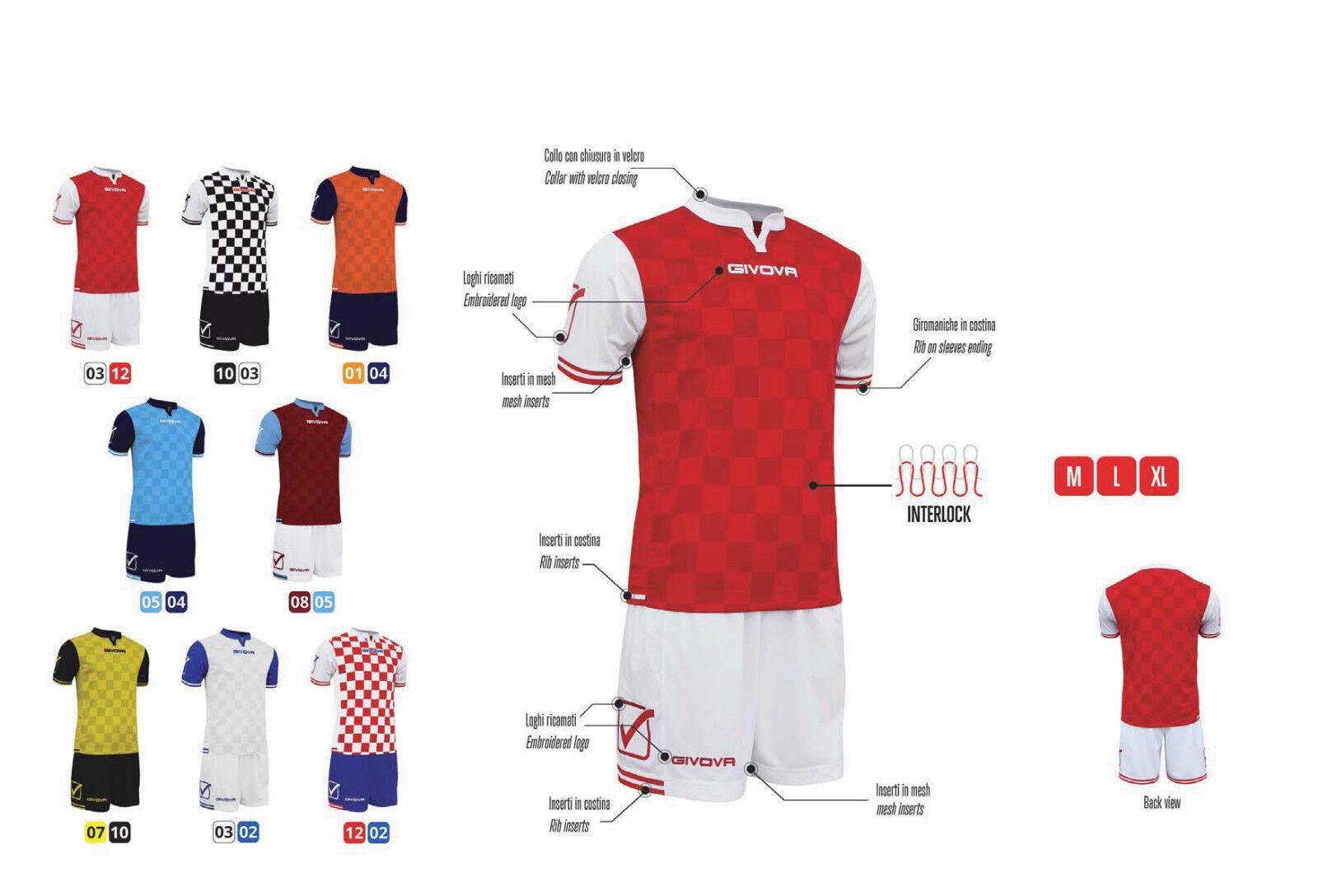 10er Trikotsatz Givova Competition Fußball Trikot kurzarm und Hose M  L  XL  | Deutsche Outlets