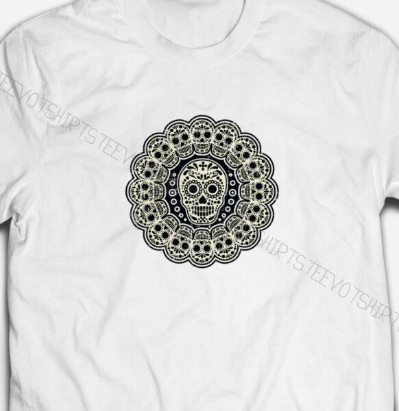 Attivo Da Uomo O Donna Moda Teschi Di Zucchero S-xxxl White Cotton T-shirt Maglietta Tshirts Vendendo Bene In Tutto Il Mondo