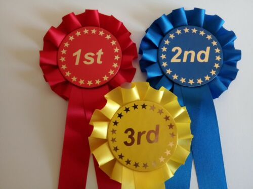 1st 2nd 3rd rosettes Horse Rosettes//Dog Rosettes//Party Rosettes FREE POSTAGE