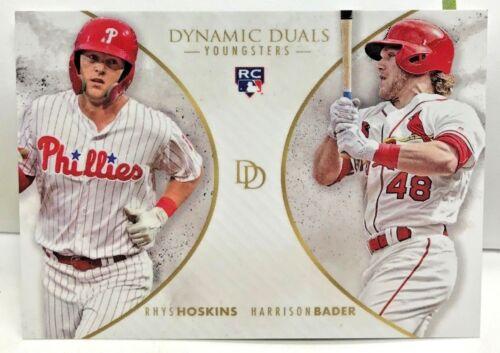 Harrison Bader 2018 Topps On Demand Dynamic Duals RC #YG1 SP //700 Rhys Hoskins