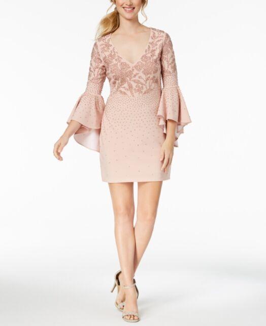 Emma /& Michele Womens Studded Tie Waist Party Cocktail Dress BHFO 4491