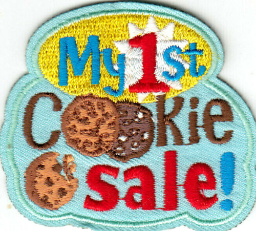 MY 1ST COOKIE SALE Iron On Patch Scouts Cub Girl Boy Cookies