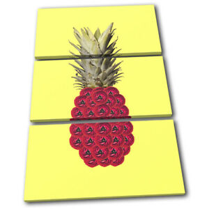 Pineapple-Flowers-Concept-Food-Kitchen-TREBLE-CANVAS-WALL-ART-Picture-Print
