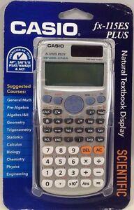 casio fx 115es plus engineering scientific calculator ebay rh ebay com au Casio FX 115Es Plus Calculator Calculator Casio FX 115Es Manual