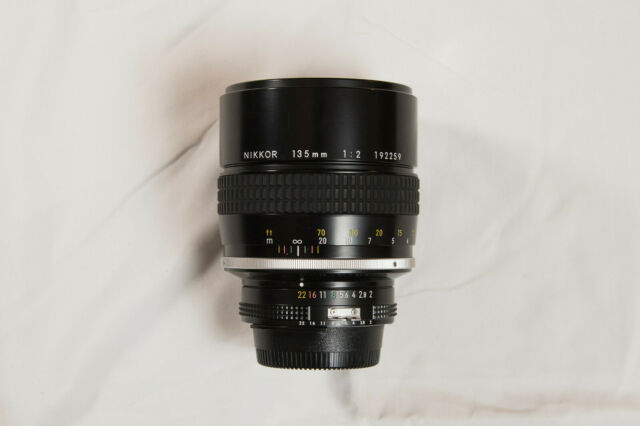Nikon 135mm f/2 Ai Manual Focus Lens, Near Mint, Recently Servciced!