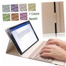 """Funda de teclado iluminado de 7 Colores KVAGO Samsung Galaxy Tab S2 9.7"""" oro"""