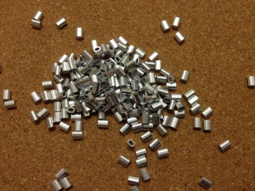 Virolas Oval De Aluminio De 20x para 1 mm cable de acero de acero Aparejo