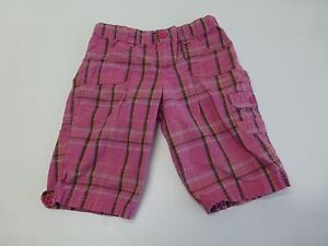 LEI-Shorts-Girls-Size-12-Pink-Plaid-Adjustable-Waist-Shorts-Great-Condition