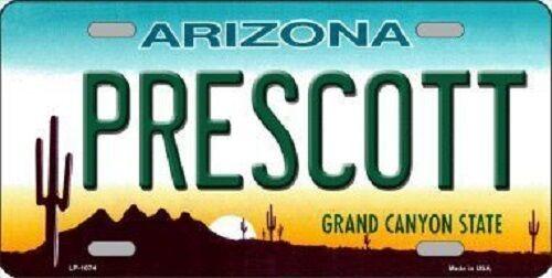 Prescott Arizona Novelty Metal License Plate