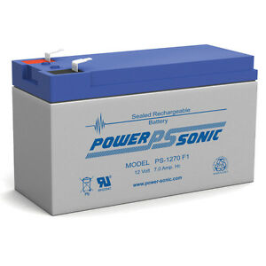 Power-Sonic-12-Volt-7ah-Rechargeable-Battery-with-F1-187-Terminals