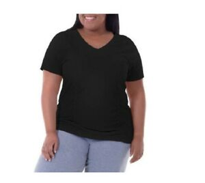 Fit for Me by Fruit of the Loom Women's Plus-Size Shirred TeeS Size 4X 26W-28W
