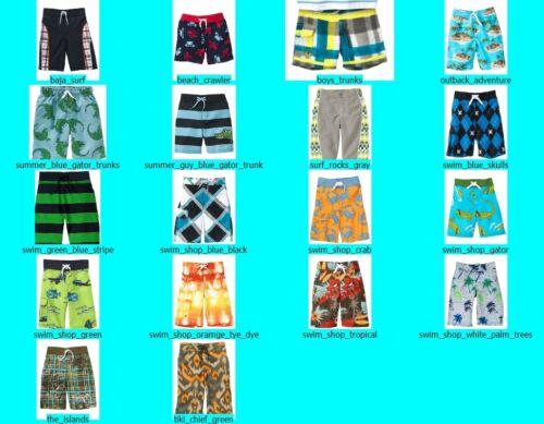 NWT Gymboree Boys Swim Trunks Swimsuit Shorts NEW Bathing Suit
