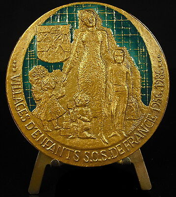 Agressief Médaille émaillée Sos Enfants Béréchel Sun Save Children Enamelled 69 Mm Medal Dingen Geschikt Maken Voor De Mensen