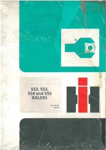 Internacional Enfardadora 552 553 554 555 servicio de Taller reparación Manual
