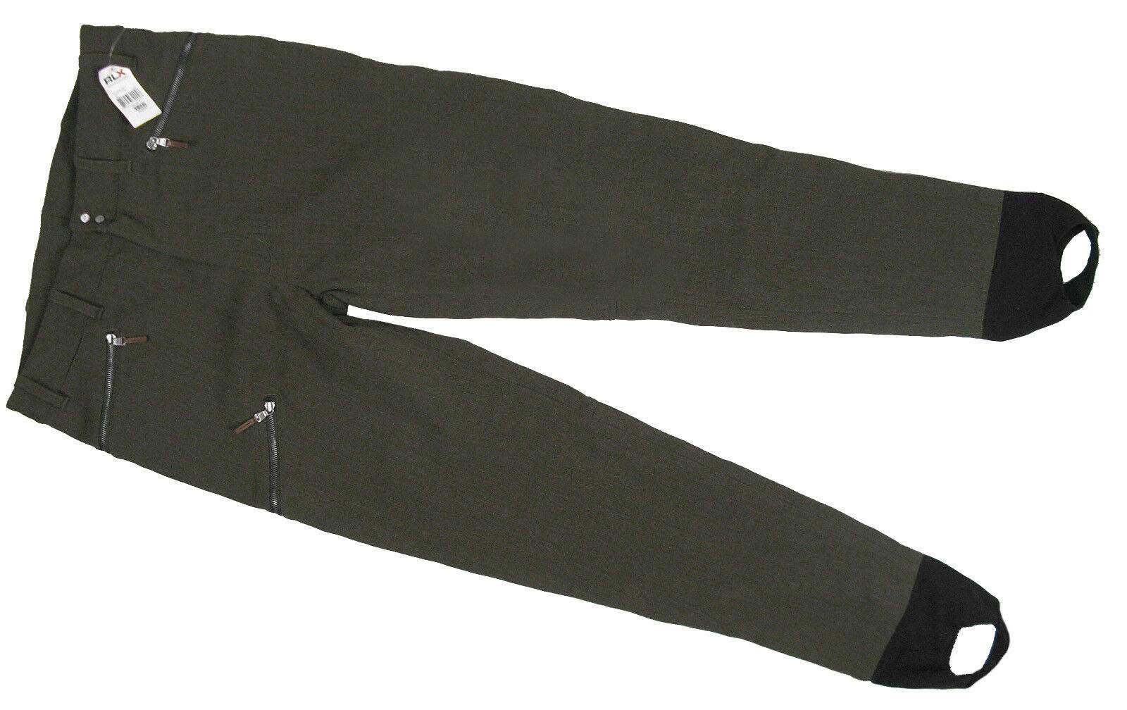 NEU Ralph Lauren RLX Ski & Snowboard Hose XL Sturrups Vintage Style Loden Wolle