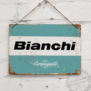 BIANCHI-LOGO-Campagnolo-Replica-Vintage-Metal-Wall-Sign-Retro-Bike-Gift-Cyclist