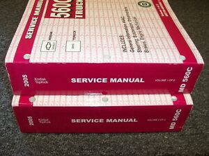 2005 gmc topkick c4500 c5500 c6500 c7500 truck shop service repair rh ebay com C5500 Speed Limiter 2005 c5500 owners manual