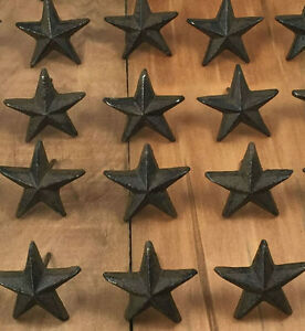 Details About Cast Iron Nail Stars Set Of 36 Craft Western Decor Texas Lone Star 1 7 8 W