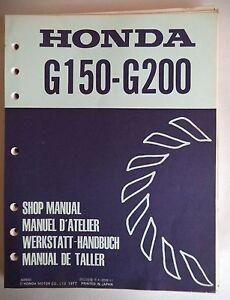 honda engines factory service shop manual g150 g200 with parts rh ebay com honda gx200 manual pdf honda gx200 manual