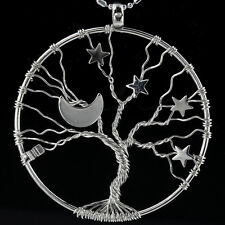 """Tree of Life Moon Stars """"I Love You to the Moon and Back"""" Pendant Fit Necklace"""