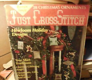 Just Cross Stitch Vintage Cross Stitch Pattern Magazine December 1989