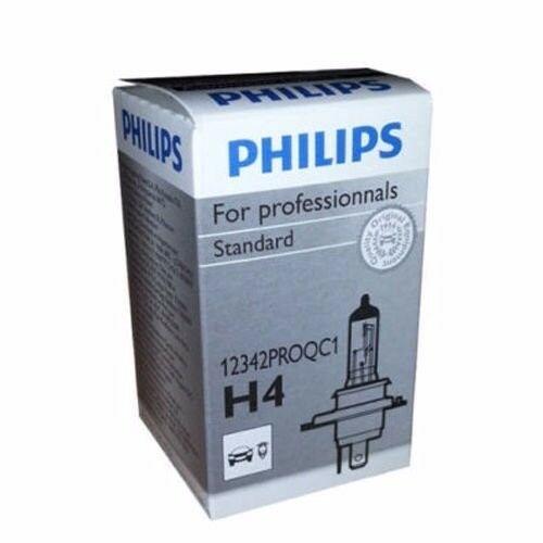 Philips H4 Standard Halogen Replacement Headlight Bulb, 12342PROQC1 (1 Pack)