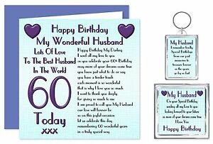 Image Is Loading 60th Husband Happy Birthday Gift Set Card Keyring