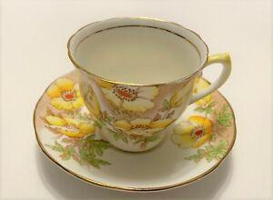 RARE-vintage-Salisbury-Anemone-teacup-amp-saucer