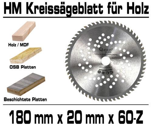 HM Kreissägeblatt Sägeblatt 180 x 20 x 60-Z Für Laminat Parket Extra Dünn G78042