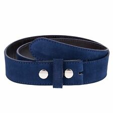 Rodeo Cowboy Belt strap Snap on For Western Belts Buckles Blue suede leather 36