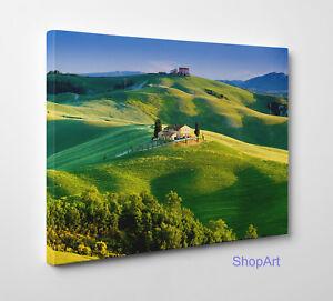 Quadro Paesaggio Di Campagna Colline Toscane Stampa Su Tela Effetto