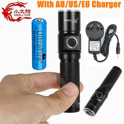 SMALL SUN 1200lumen 300meter CREE XML T6 LED Pocket Tactical Flashlight Torch AU