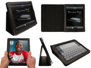 iPAD-3-BLACK-LEATHER-FLIP-CASE-COVER-WITH-STAND