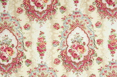 Quilt Gate Cottage Shabby Chic Mary Rose Jessica 2130Y-15A Rose Cameos BTY