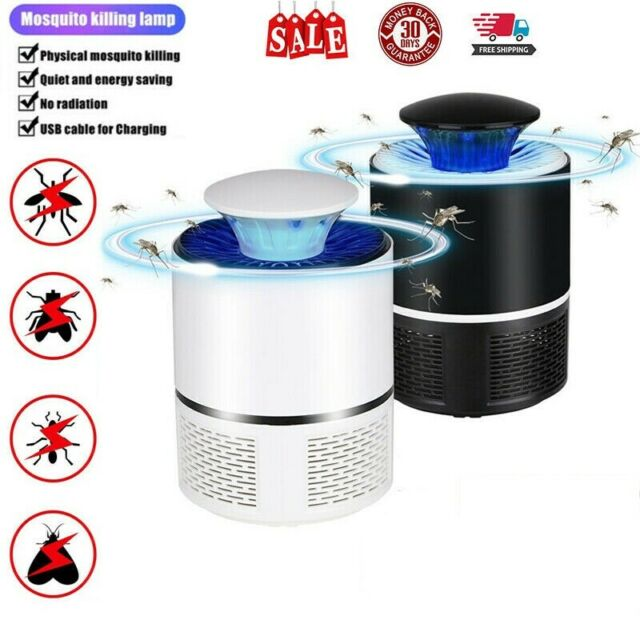 Electric UV Mosquito Killer Lamp Outdoor//Indoor Fly Bug Insect Pest Zapper Trap