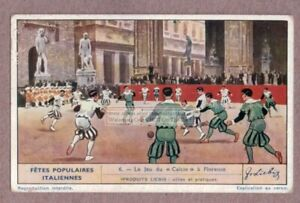 Calcio-Storico-Costumed-Football-Game-Florence-Italy-1930s-Trade-Ad-Card