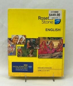Details about Rosetta Stone * ENGLISH (American) * TOTALe v4 Level 1-5 (1  User) - Full Version