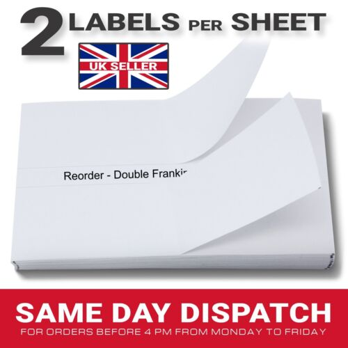 50 100 250 500 1000 1500 Franking Machine Pitney Bowes Double Labels per Sheet