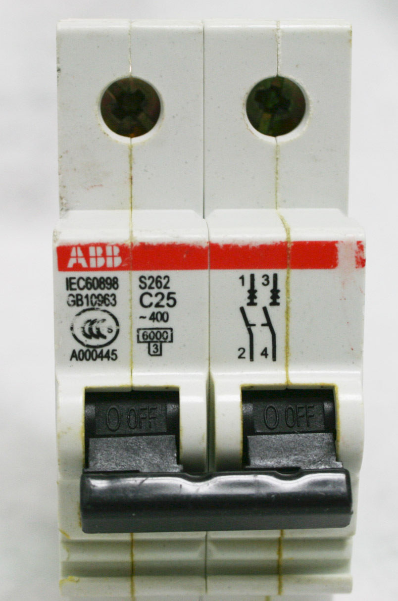 C25 S262 Abb Circuit Breaker 25 Amp Mcb 2 Pole 380 Volt 25a Din Generator Lot Of 10 Ebay Norton Secured Powered By Verisign