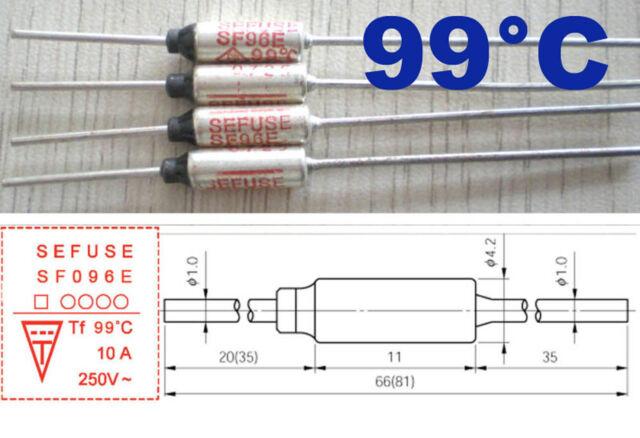 Thermal Fuse 172°C 250V 10A SF169E Microtemp Cutoff Sefuse