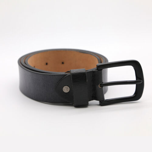 Leather Mens Belt Belts Real New Genuine Buckle Trouser Sizes Black Jeans party