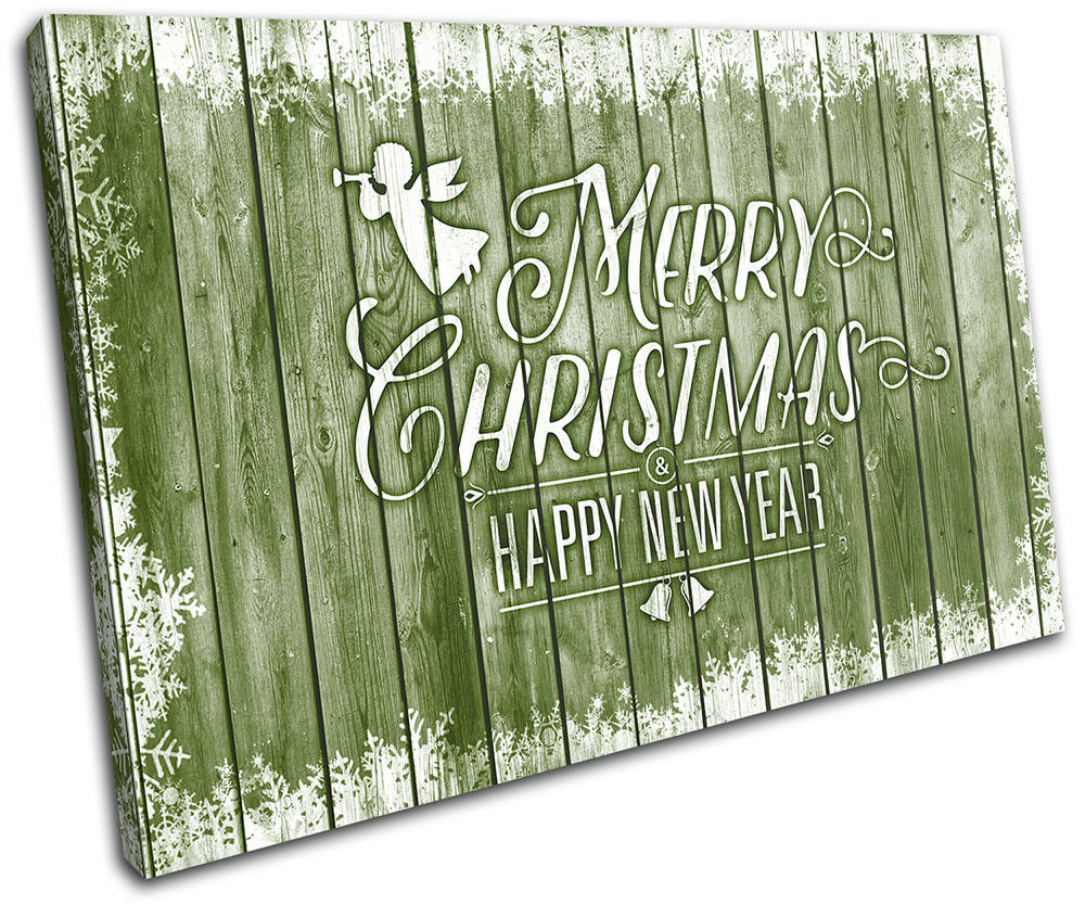 Christmas Decoration Wall Canvas ART Print XMAS Picture Gift Wood 09 vert Chris