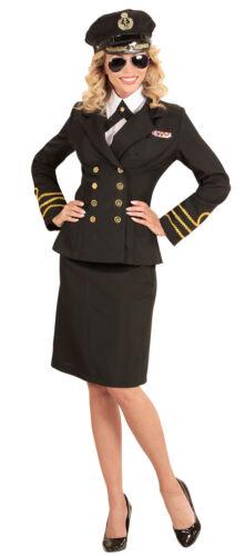 Navy Capitano Jess costume per donna NUOVO-DONNA CARNEVALE TRAVESTIMENTO KOS