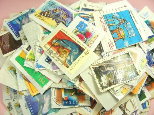 AUSTRALIAN Stamped All Stamps Used On Paper Mixture Lots Collection FREE Postage