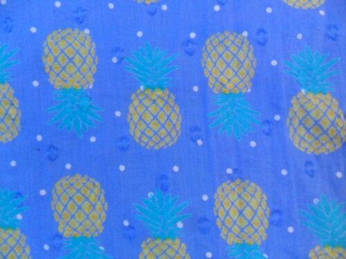EX FAT FACE BLUE MIX PINEAPPLE PRINT LIGHT COTTON JUMPSUIT age 4-5  6-7  12-13